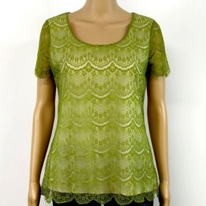 Banana Republic Top Blouse Green Olive